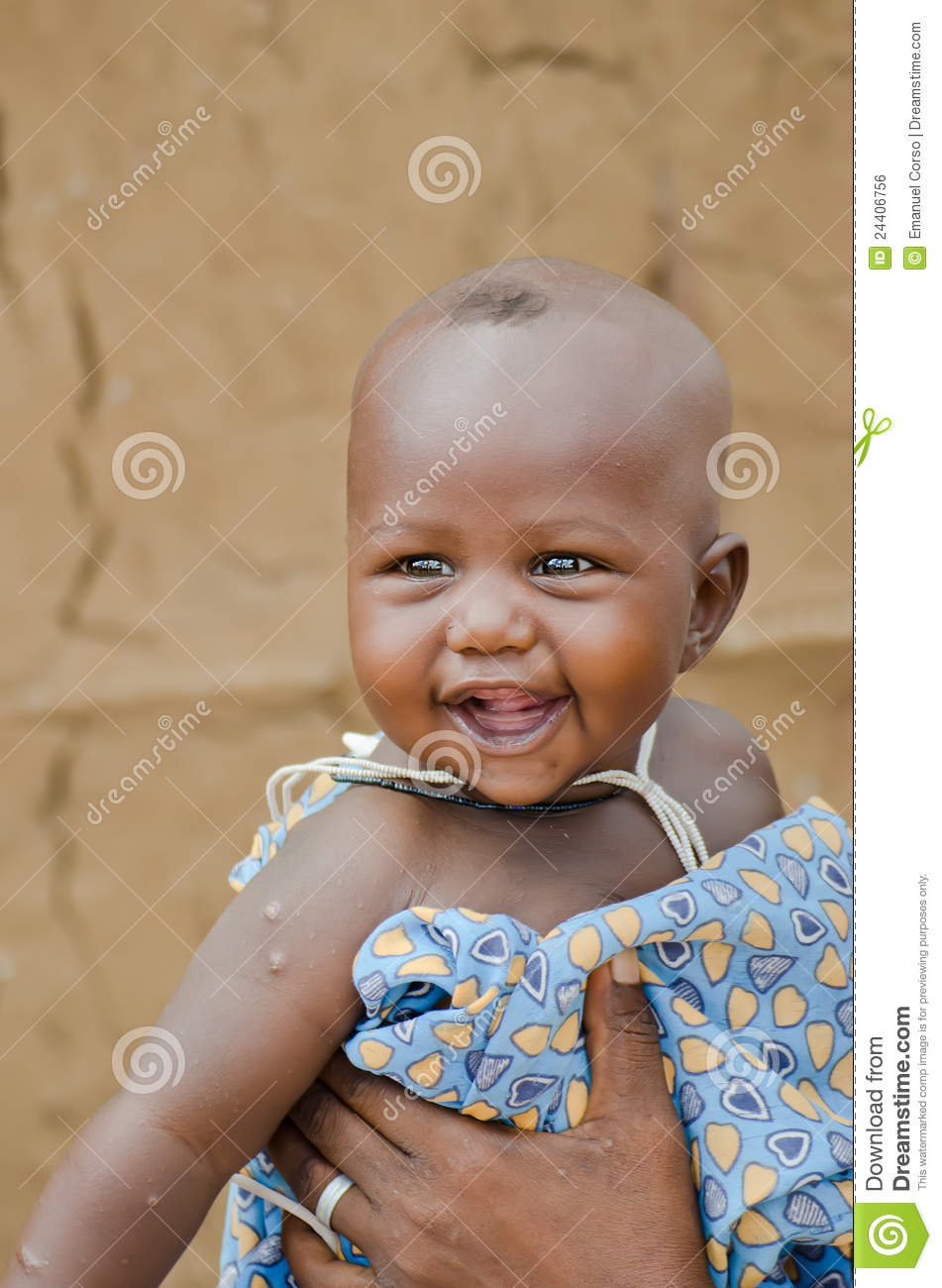 African Baby Smiling Editorial Photo