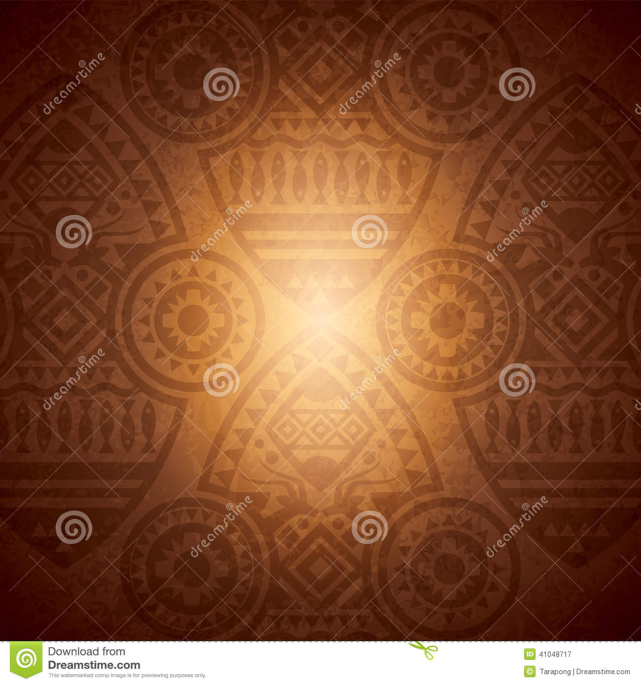 African Background Design Template Stock Vector