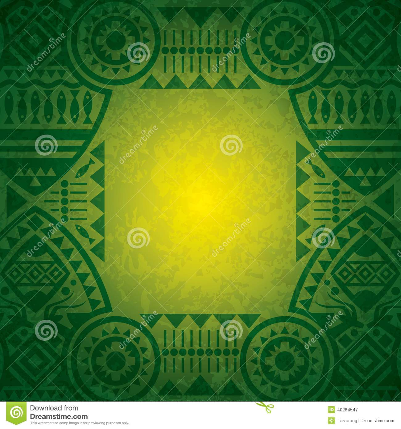 African background design template for cover design, magazine cover ...