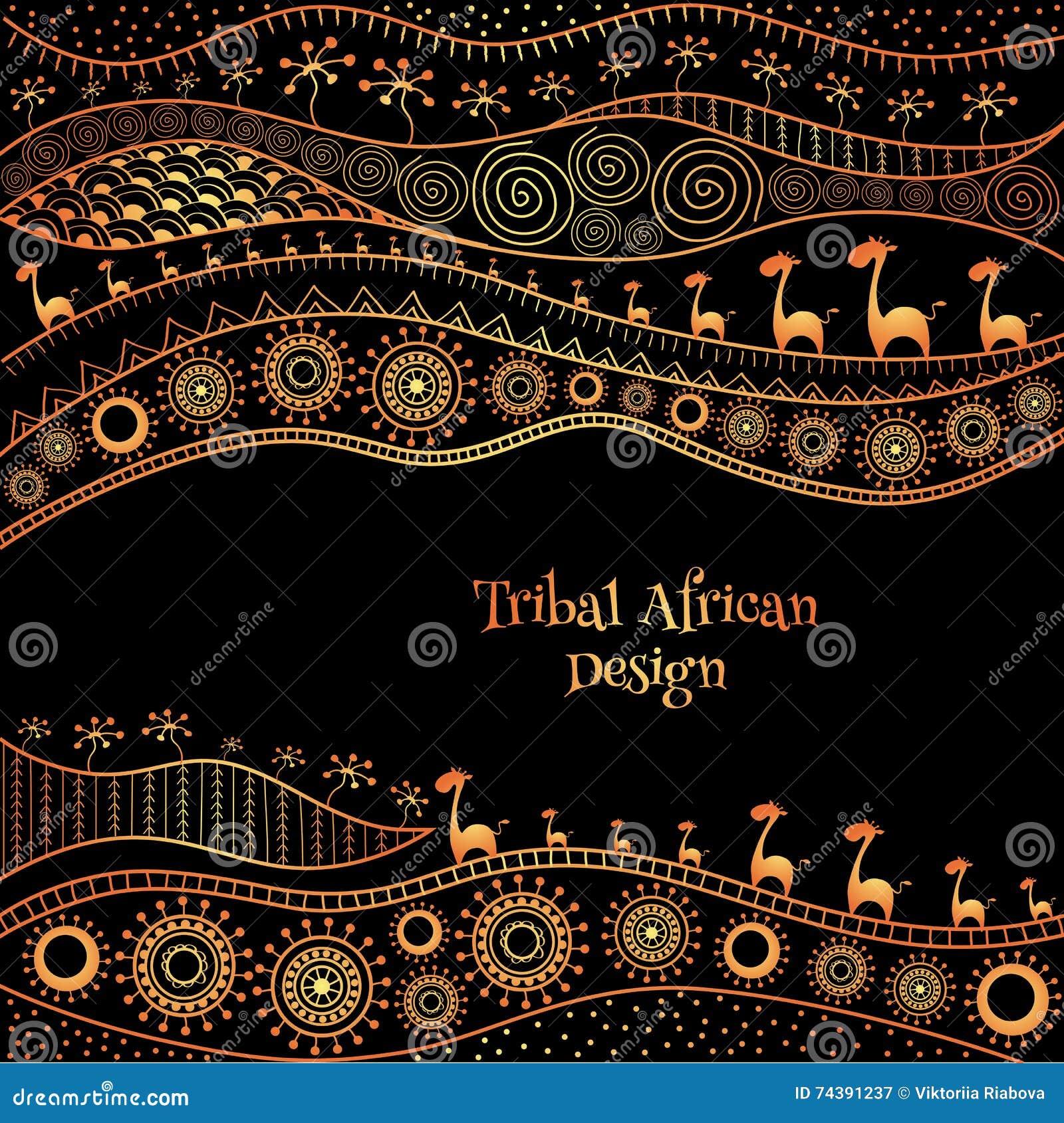 Africa brochure template