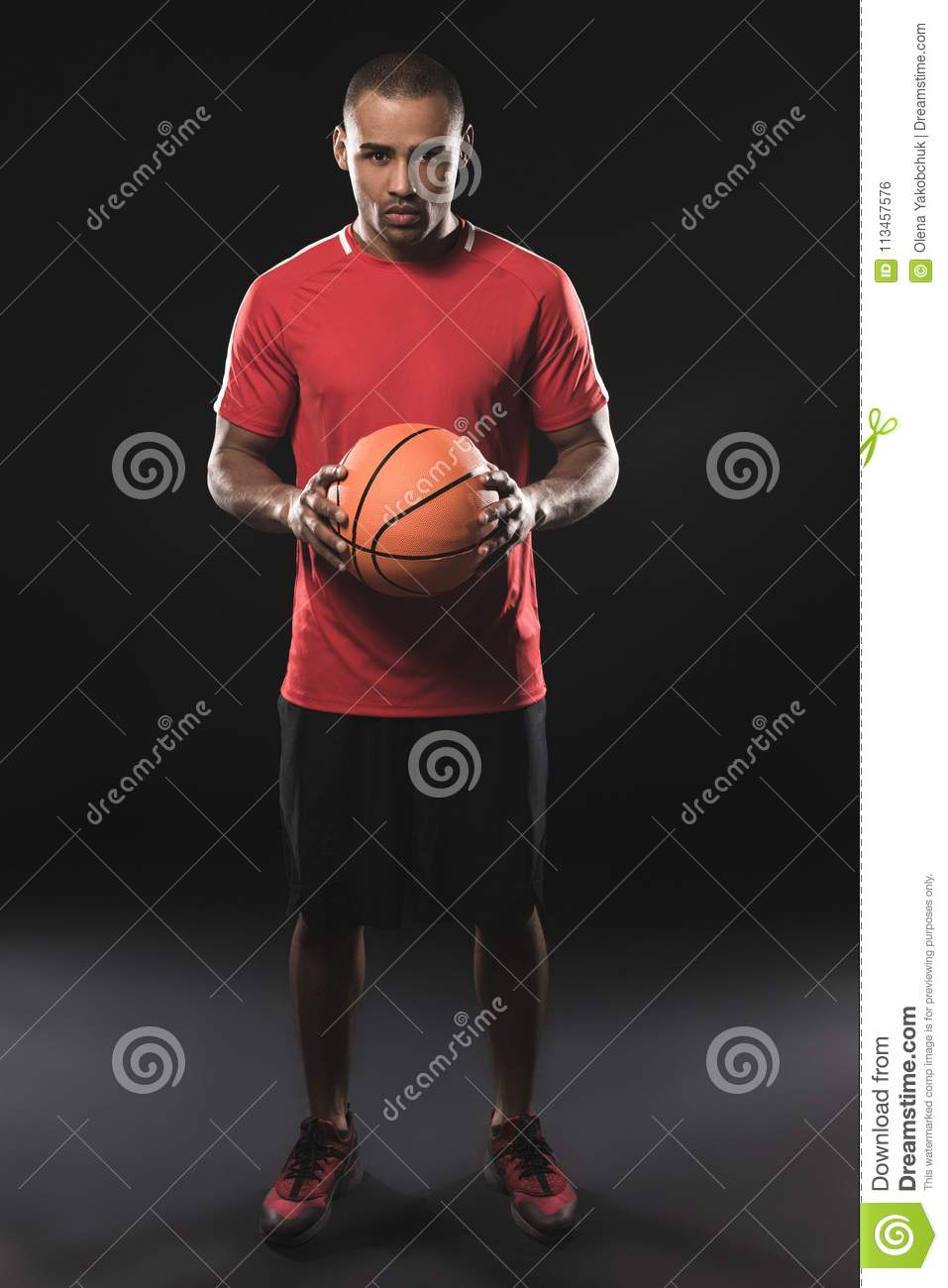 African basketball player demonstrating good physical state