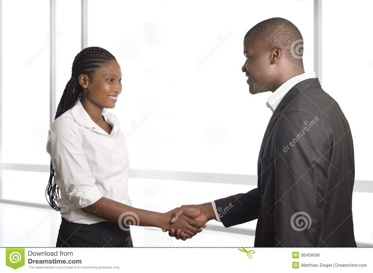 Download African Business Partners Shake Hands Stock Photo - Image of contract, office: 36409598