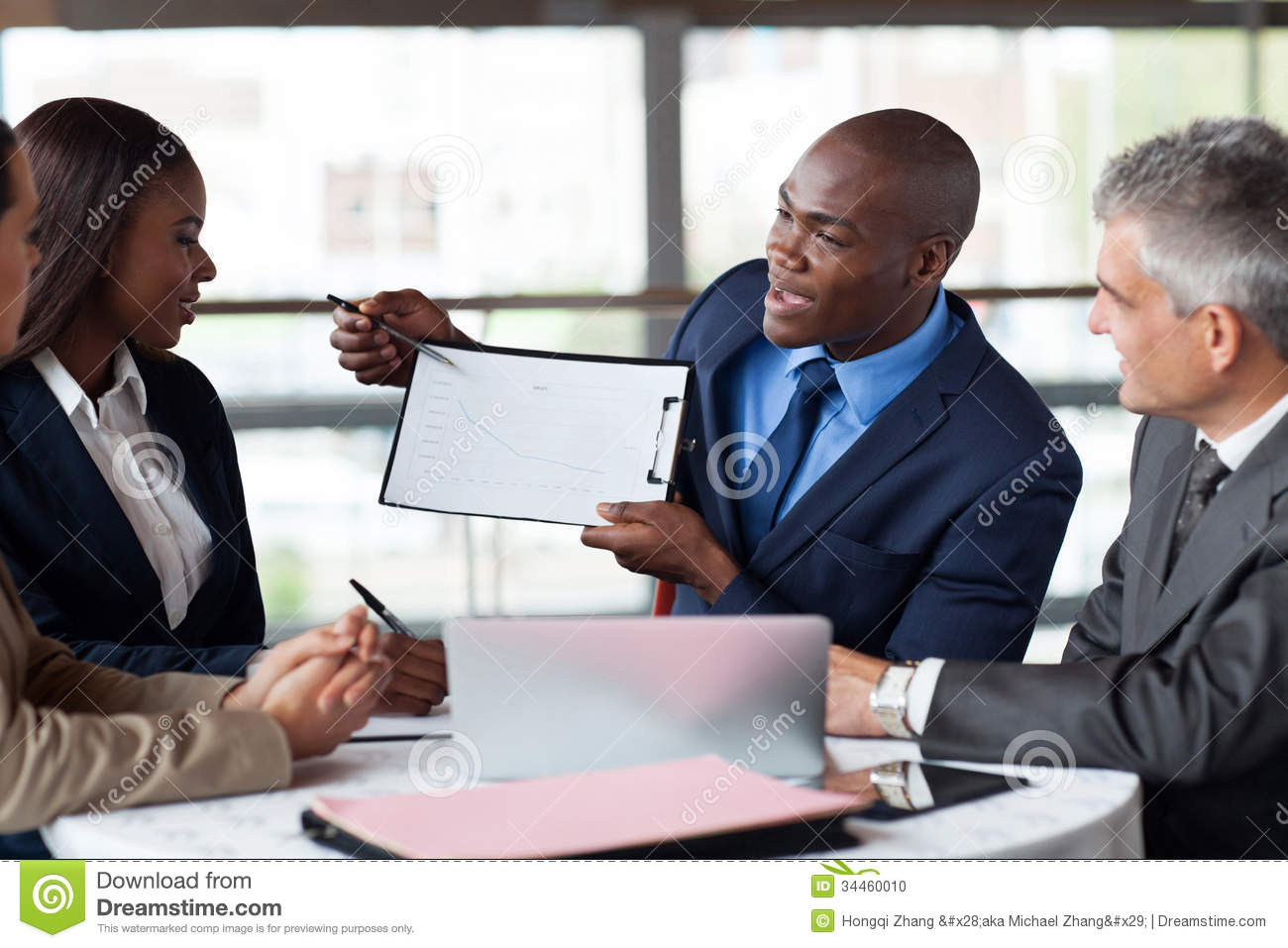 African businessman presenting