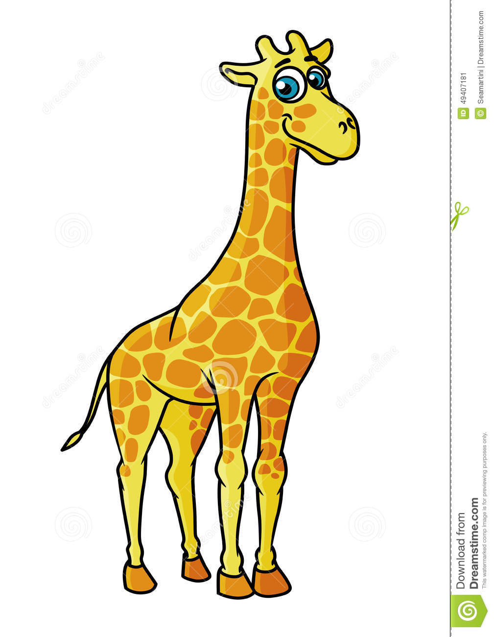 African Cartoon Giraffe Character Stock Vector ...
