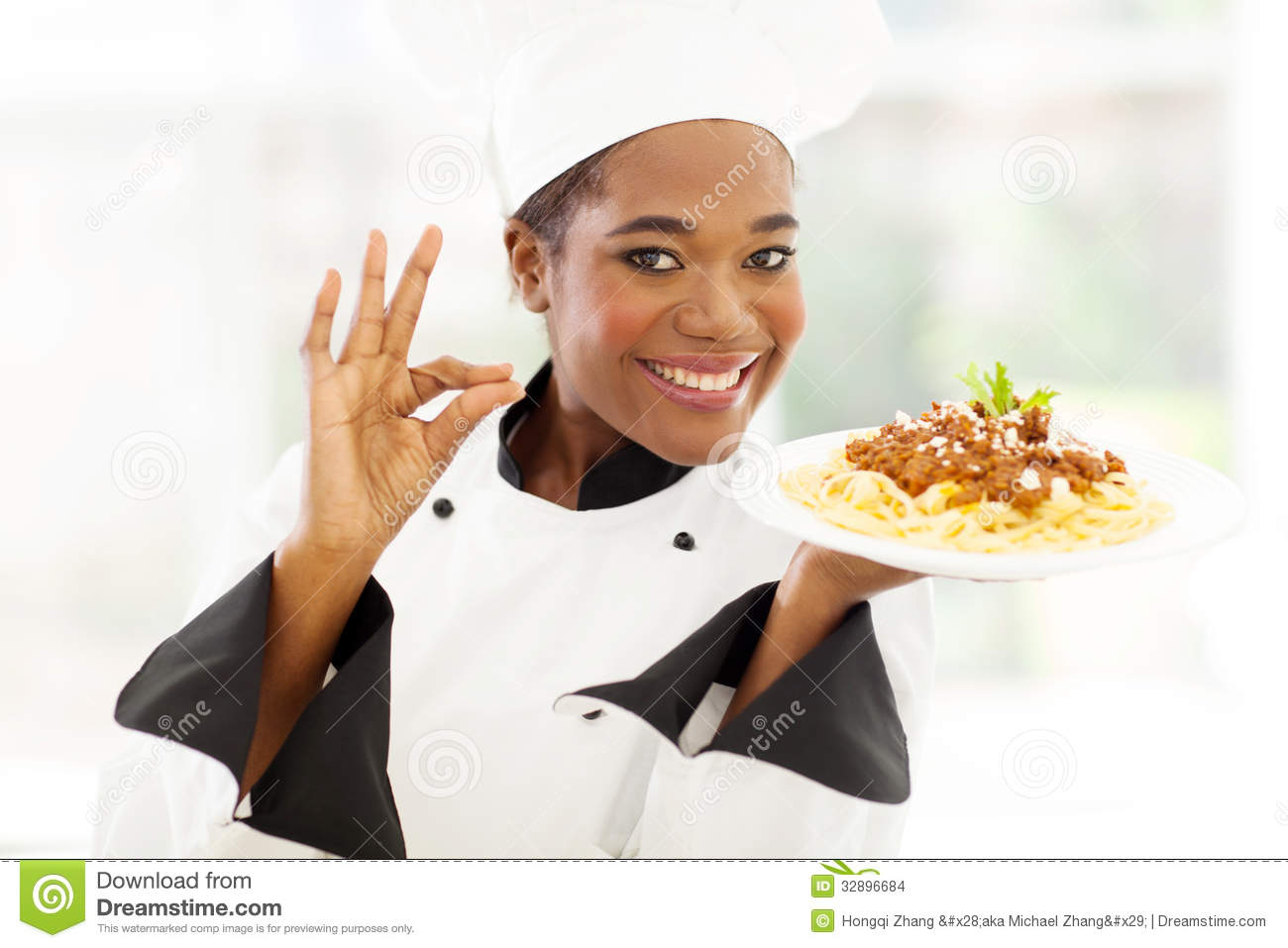 African Chef Delicious Stock Images Image 32896684