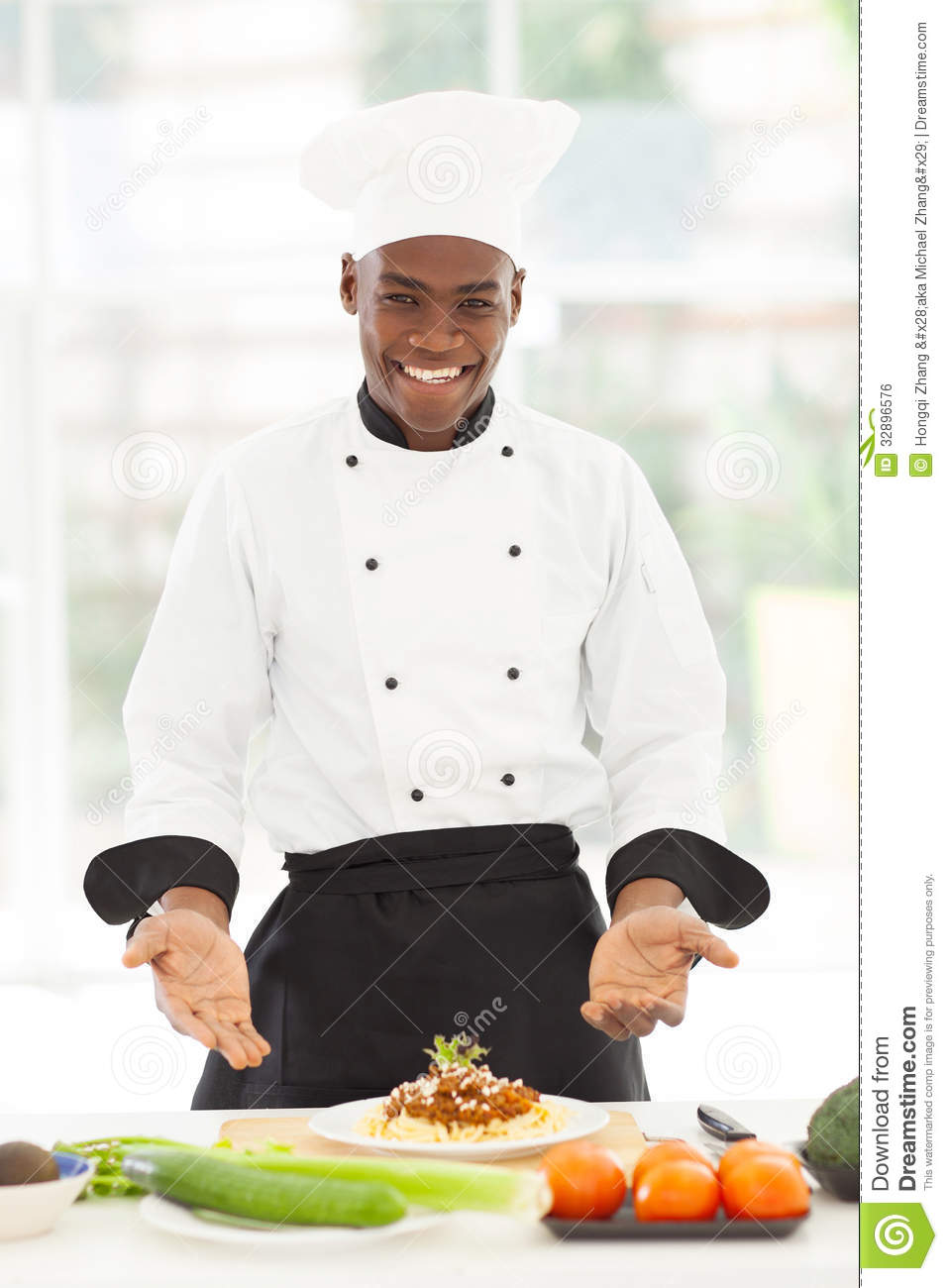 African chef spaghetti stock photo image of looking for Job cuisinier
