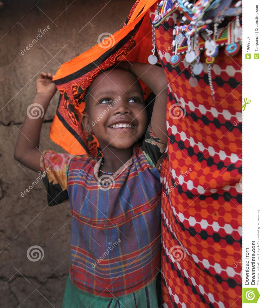 African Child In Slum Editorial Photography
