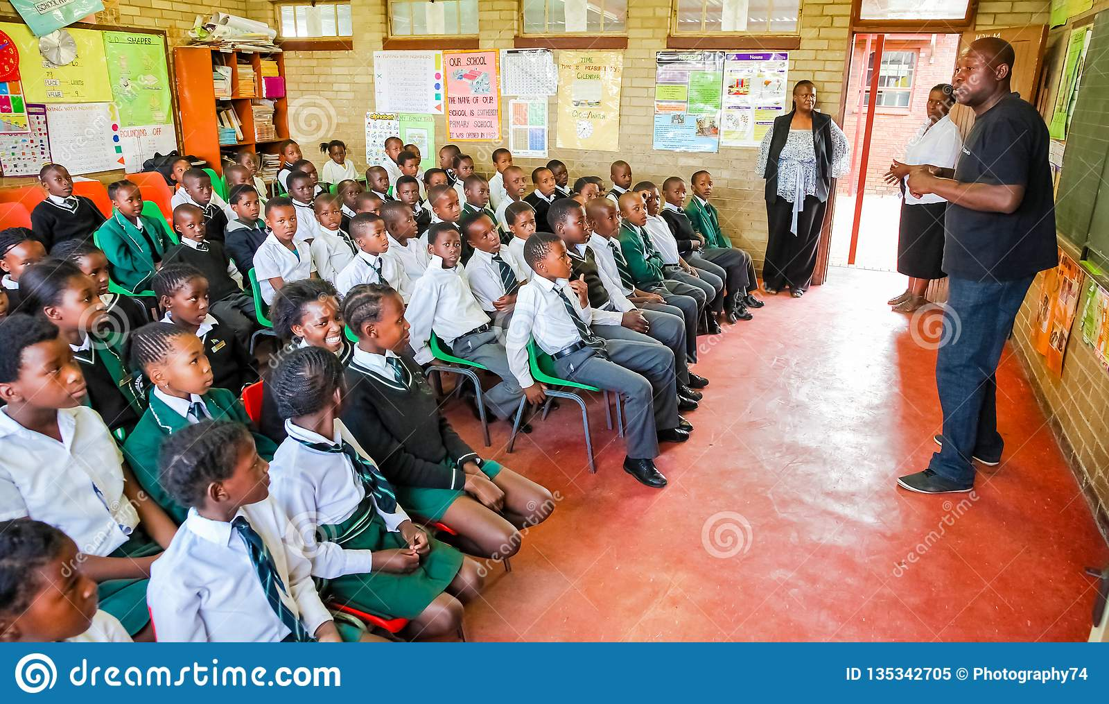 African Children And Teachers In Classroom Editorial Image - Image