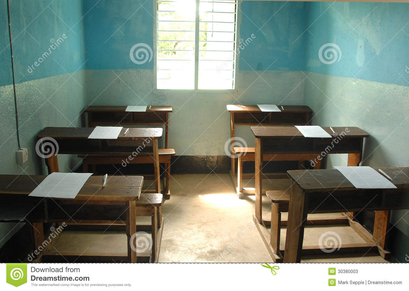 Elementary Classroom Clipart ~ African classroom editorial stock photo image