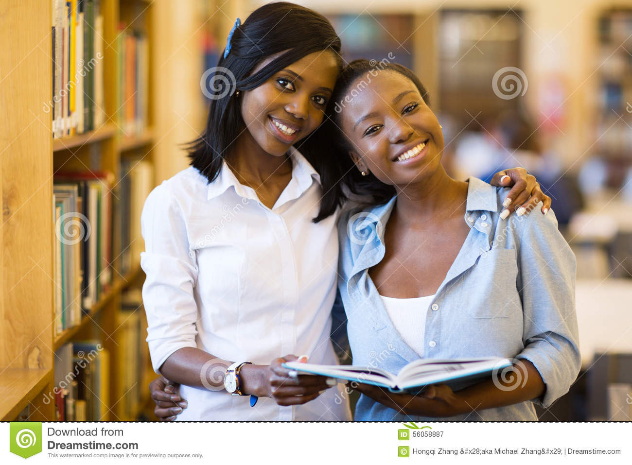 African college girls library