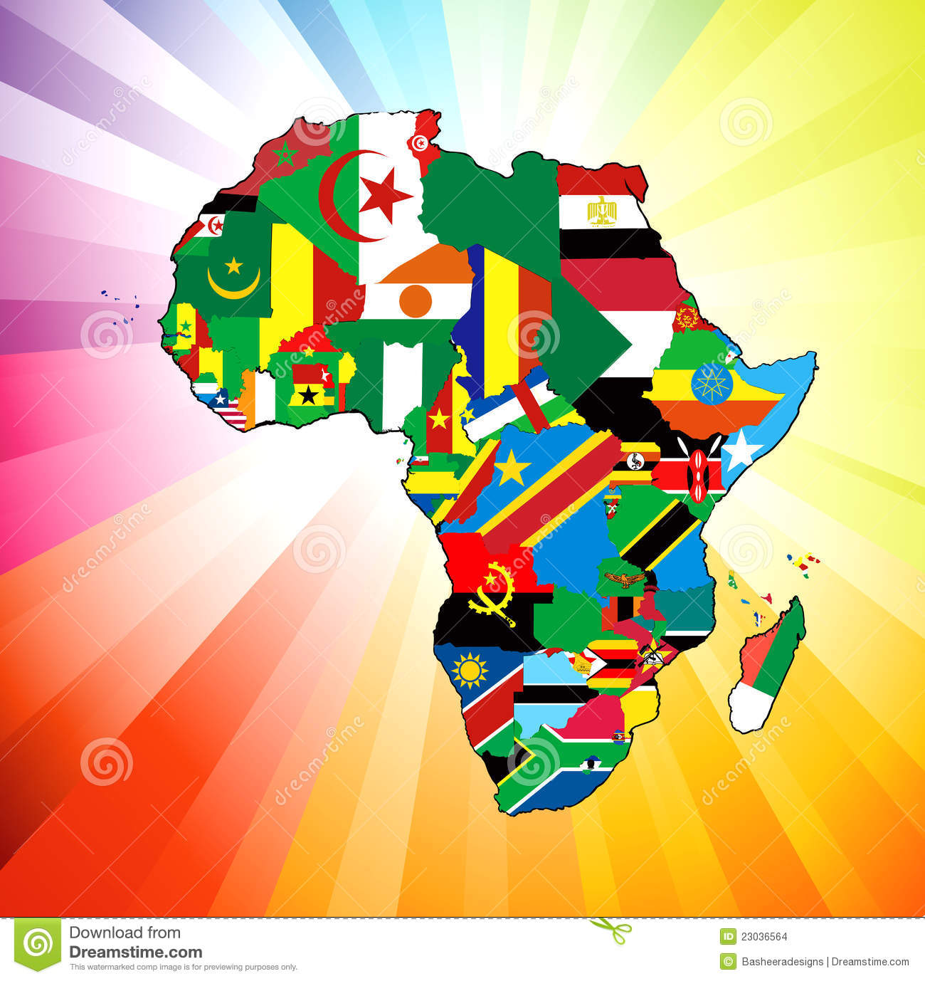 African continent flag map stock vector illustration of eritrea african continent flag map gumiabroncs Image collections