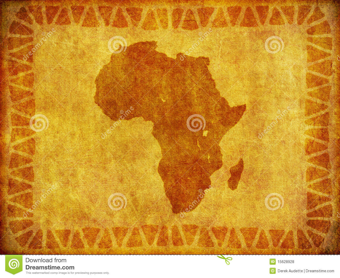 African Continent Grunge Background Stock Illustration