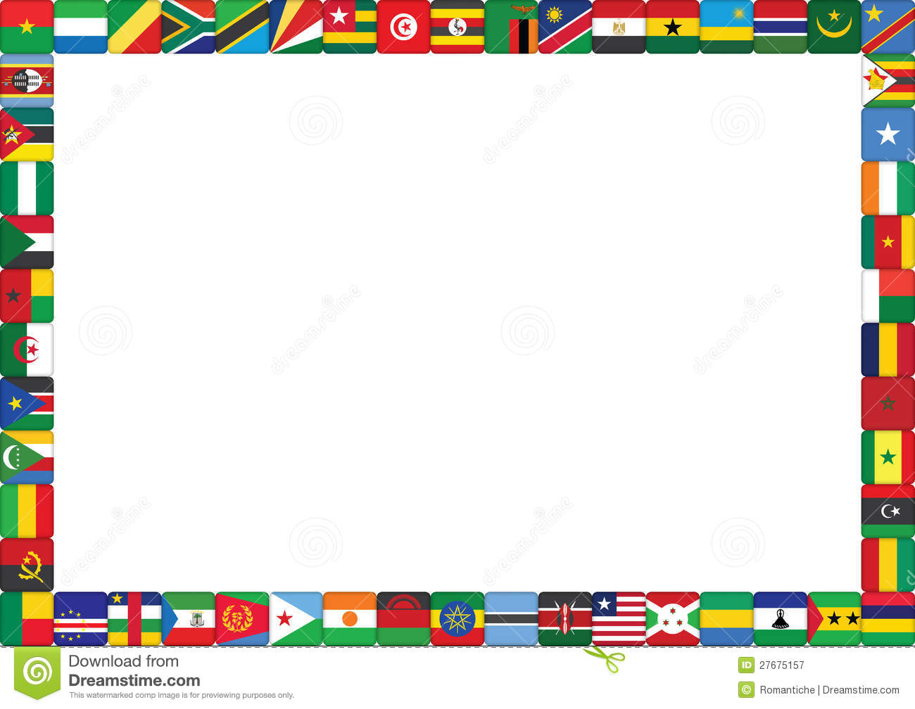 African countries flags stock vector  Illustration of
