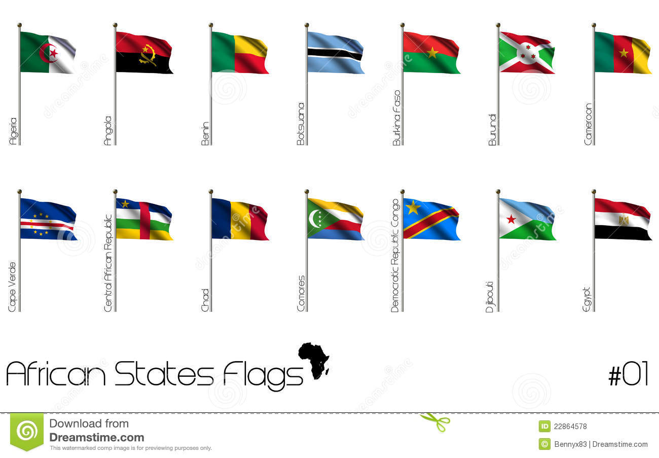 african country flags stock illustration illustration of education