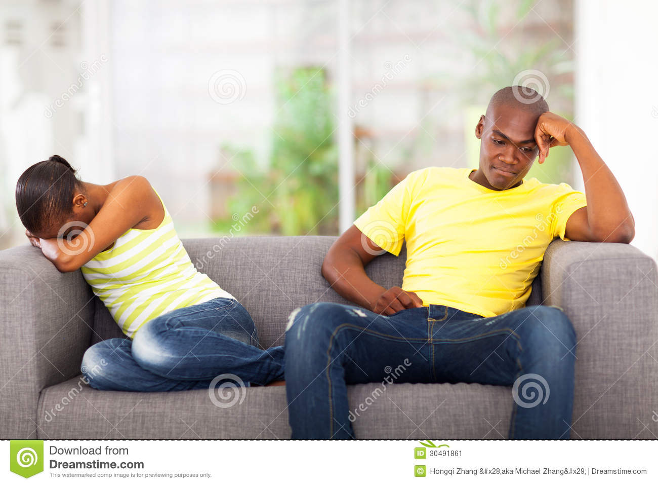 African couple conflict