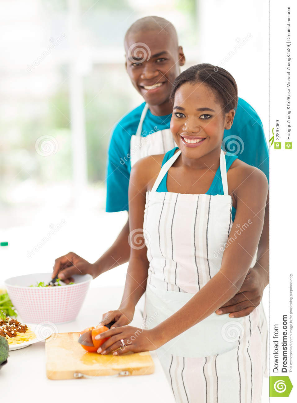 African couple cooking stock image image of husband for African american cuisine
