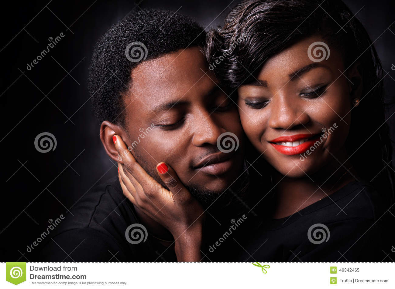 African couple love