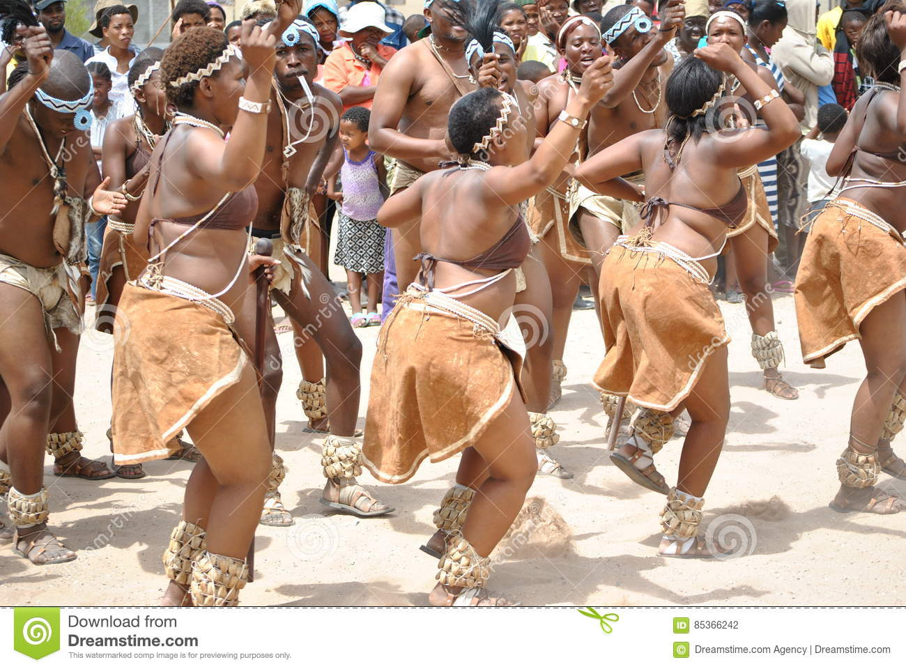 African dancers in a joyous mood