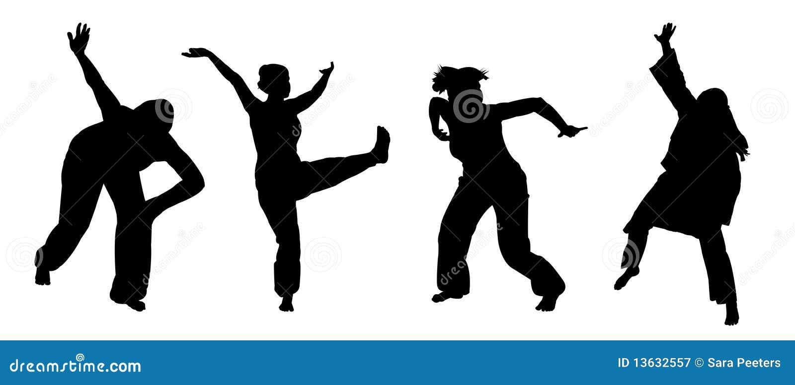Ballroom Dancing Silhouette Vector African dancing stock ...
