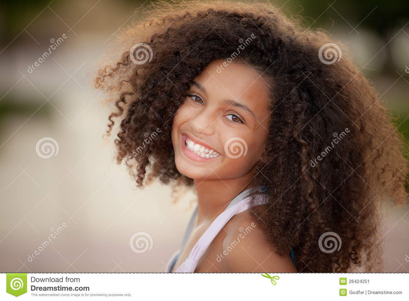african descent child stock image