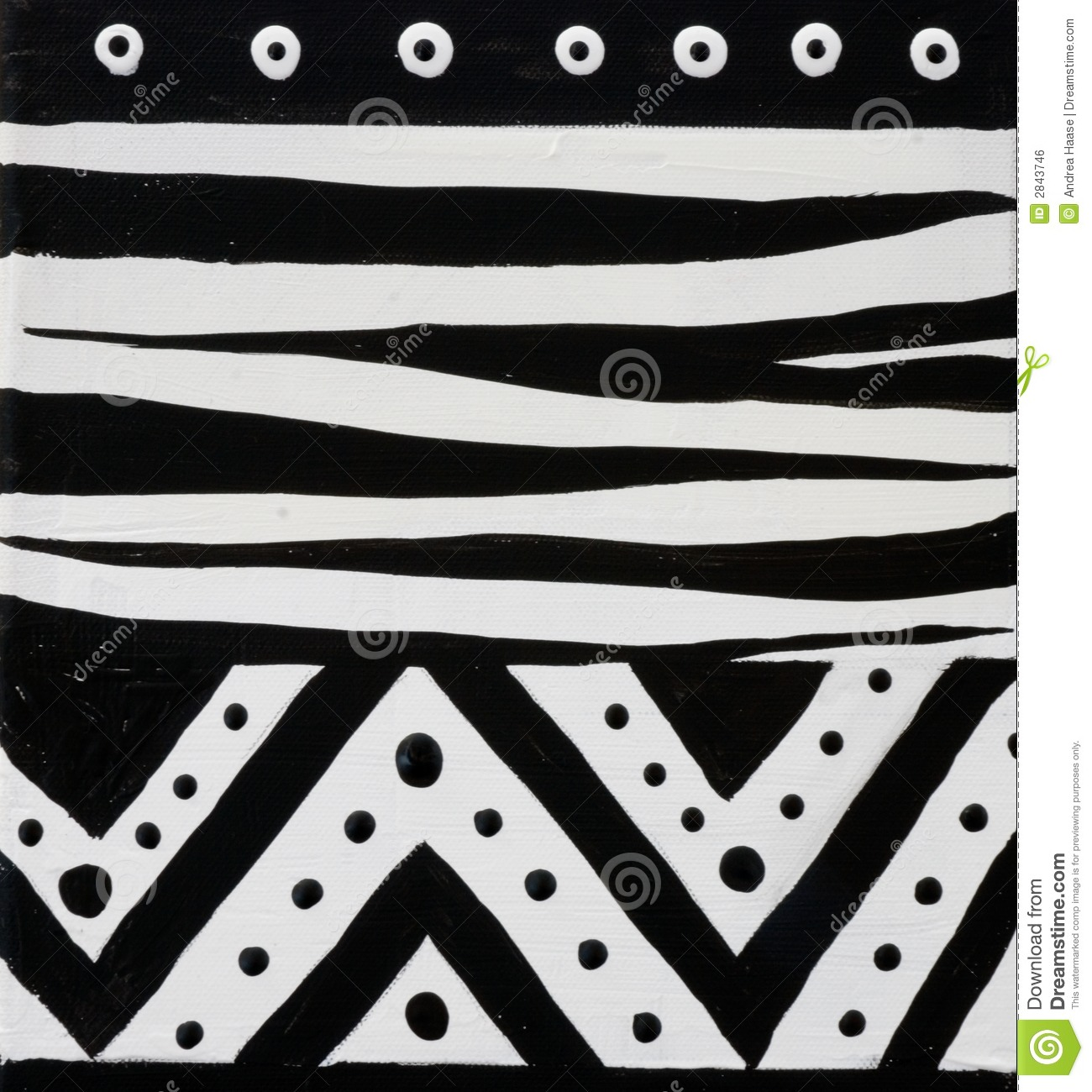 Handpainted african design black and white, artwork is created and ...