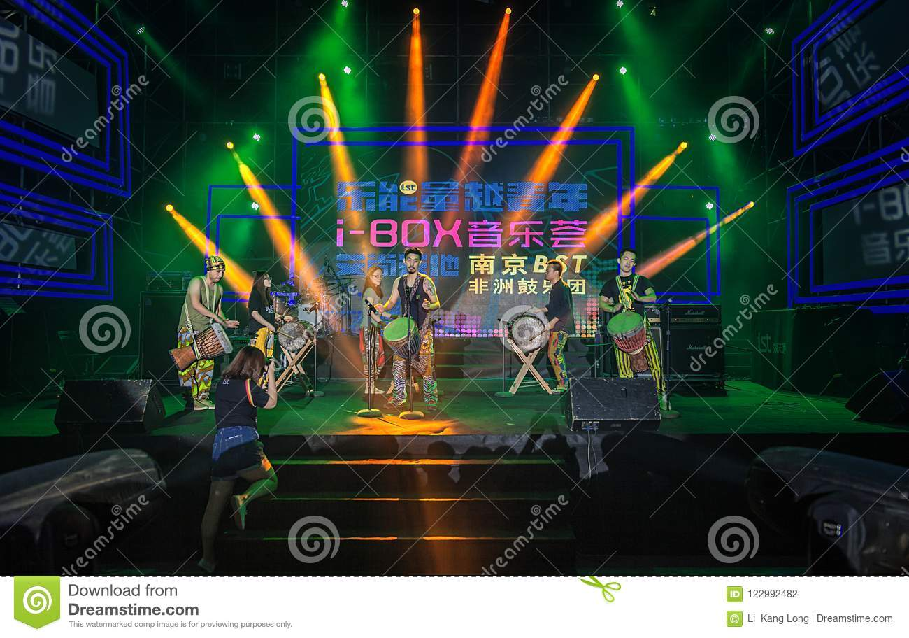 Download African Drum Band Performing In The Street Editorial Photography - Image of band, african: 122992482
