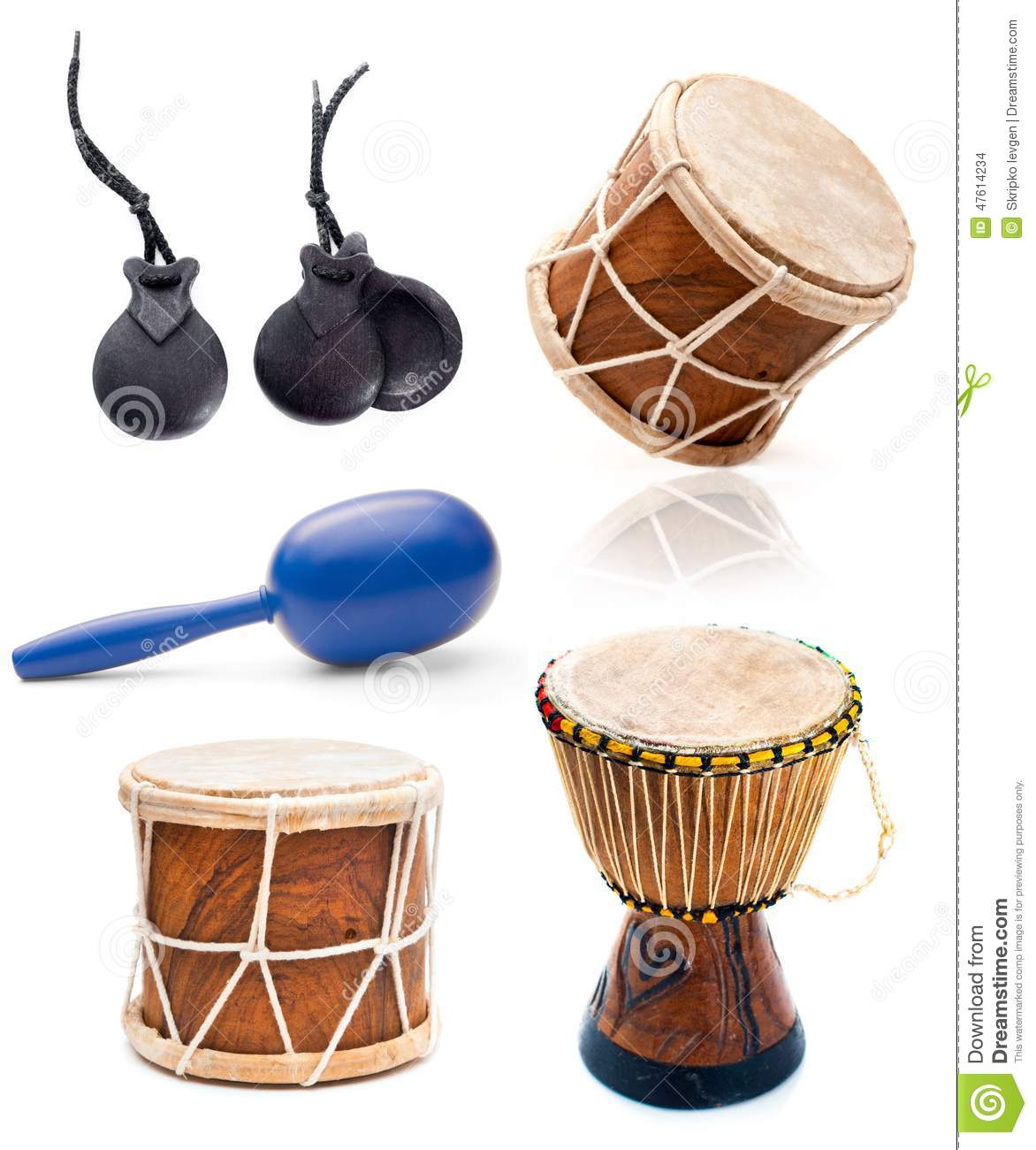 african drums and percussion stock photo image 47614234. Black Bedroom Furniture Sets. Home Design Ideas