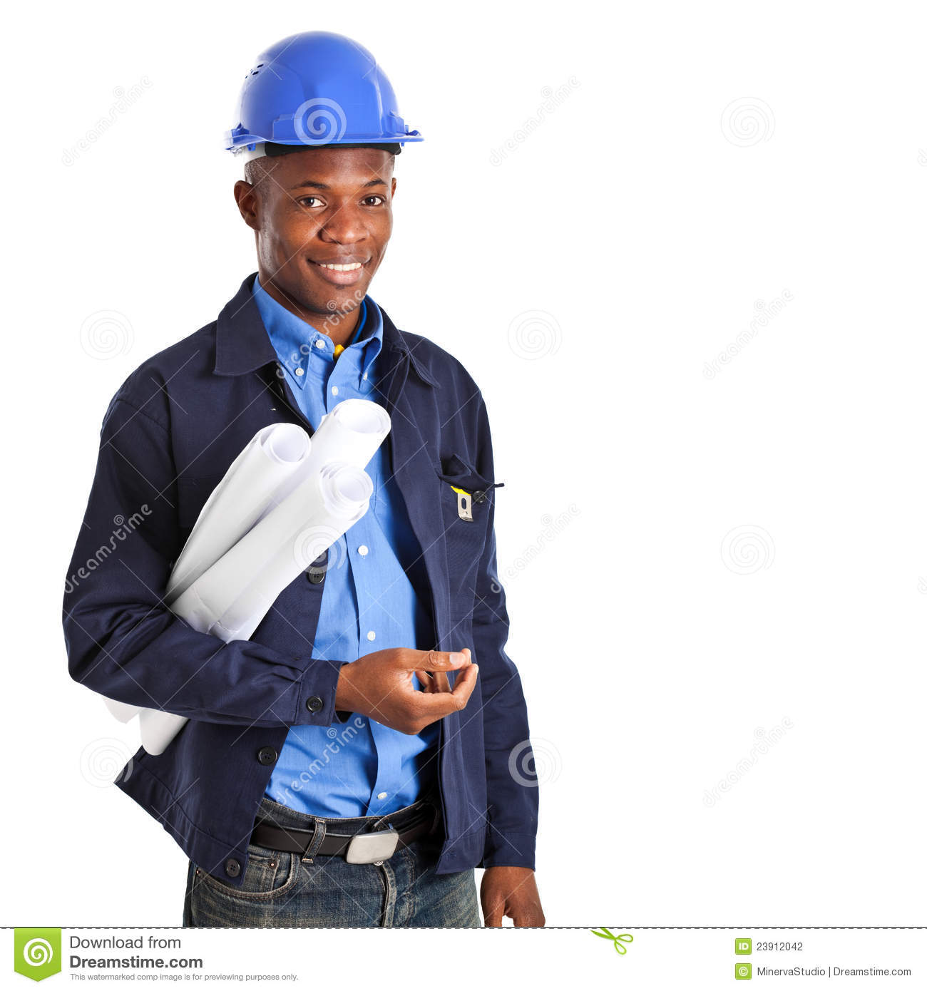 Civil Contractor African Engineer Stock Photography Image 23912042