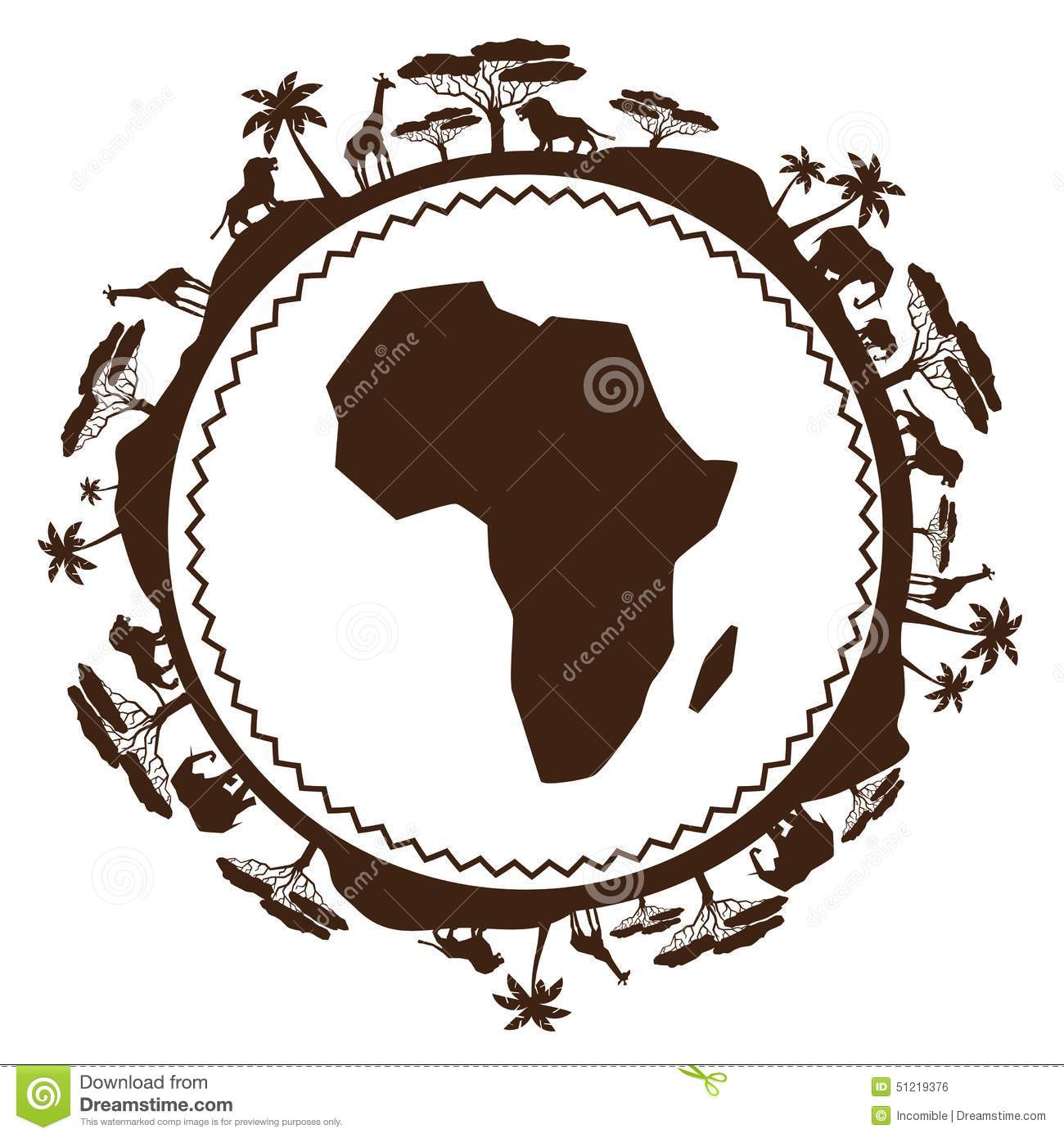 African Ethnic Background In Design Flat Style Stock Vector