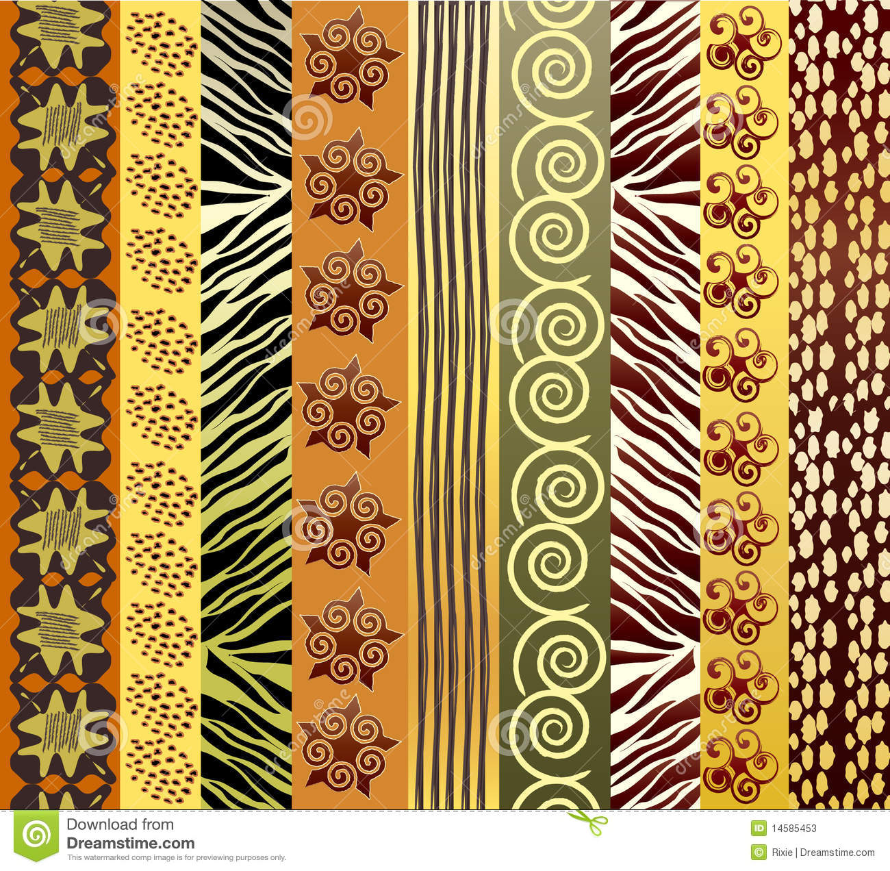 African Fabric Stock Photos Image 14585453