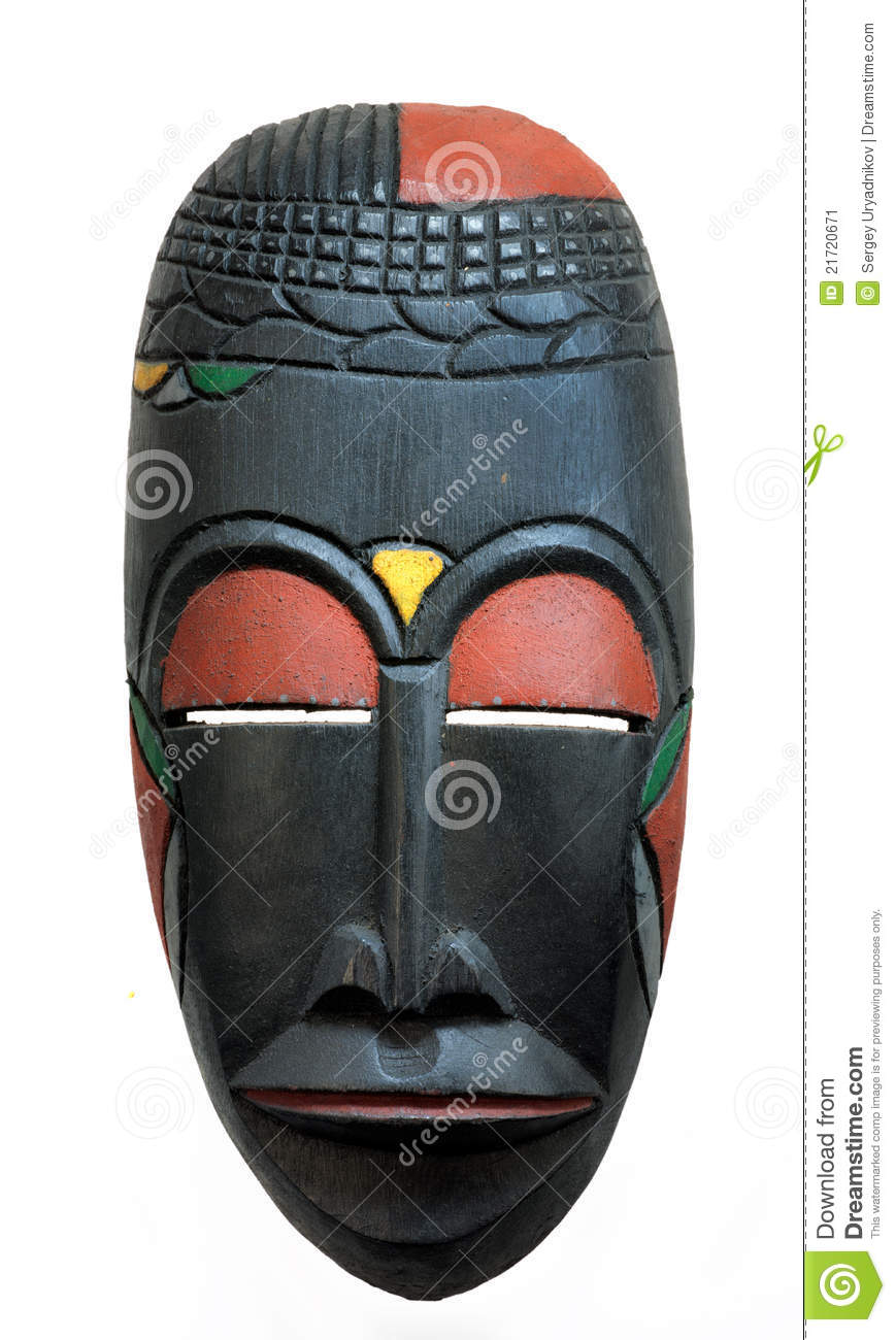 African Face Mask Stock Image Image Of Carved
