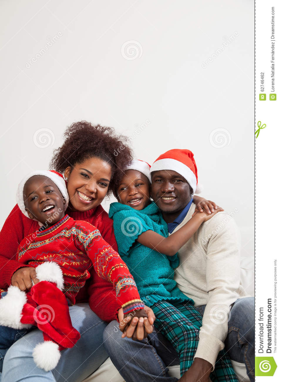 Black Family Christmas Portraits African American Famil...
