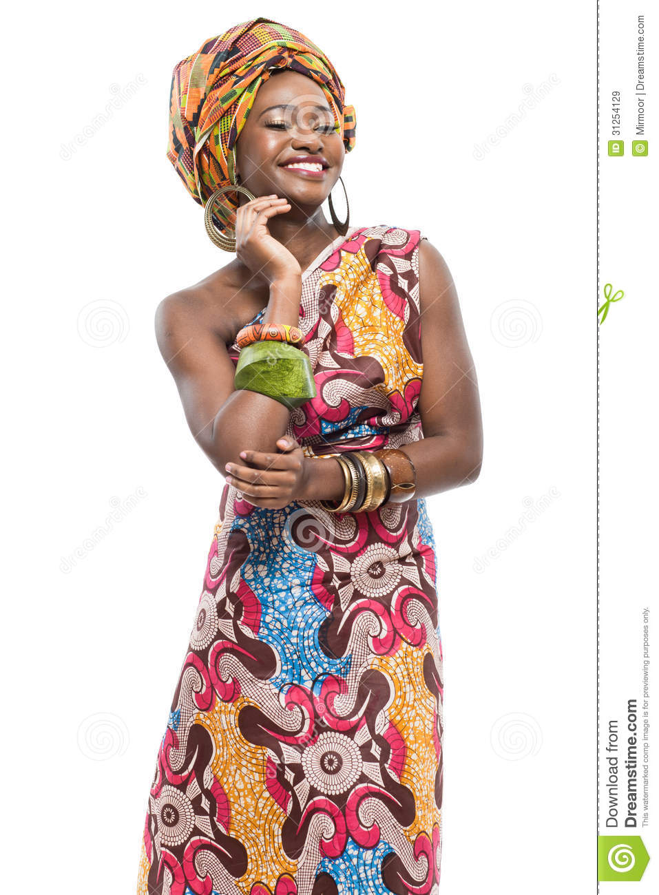 african background royalty young descent lady
