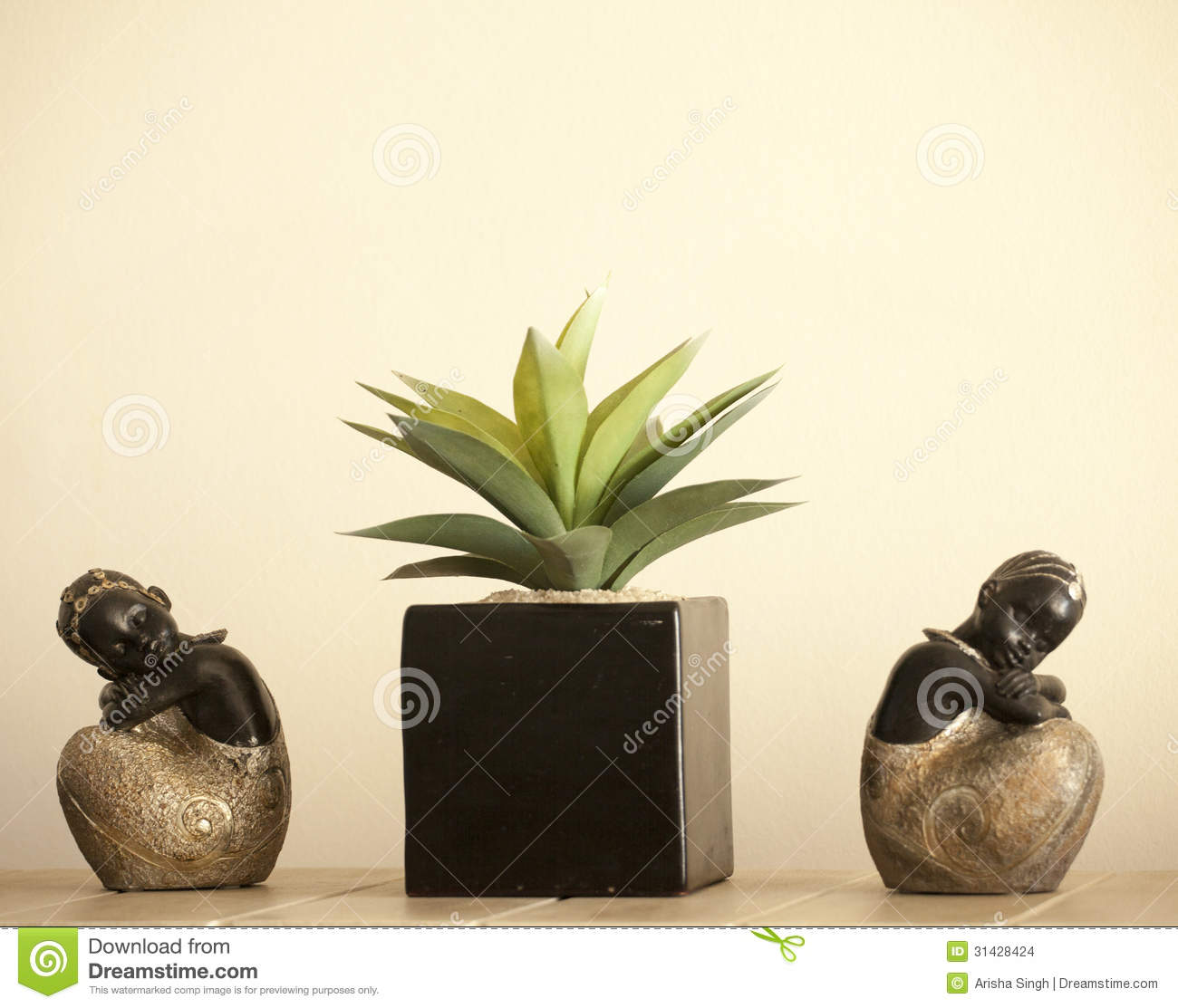 African female decorative statues stock images image for Indoor decorative plants