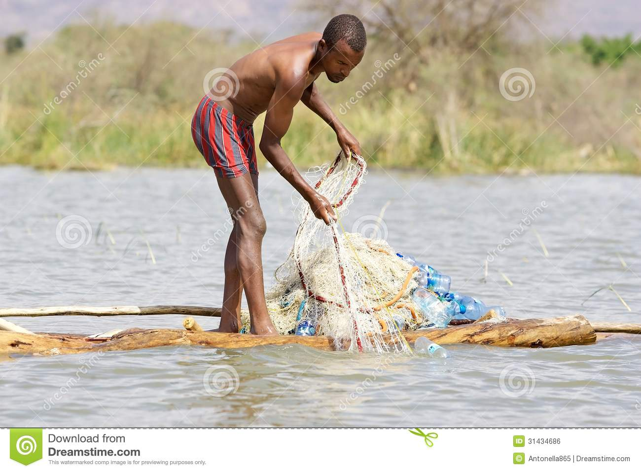 African Fisherman Editorial Photo - Image: 31434686