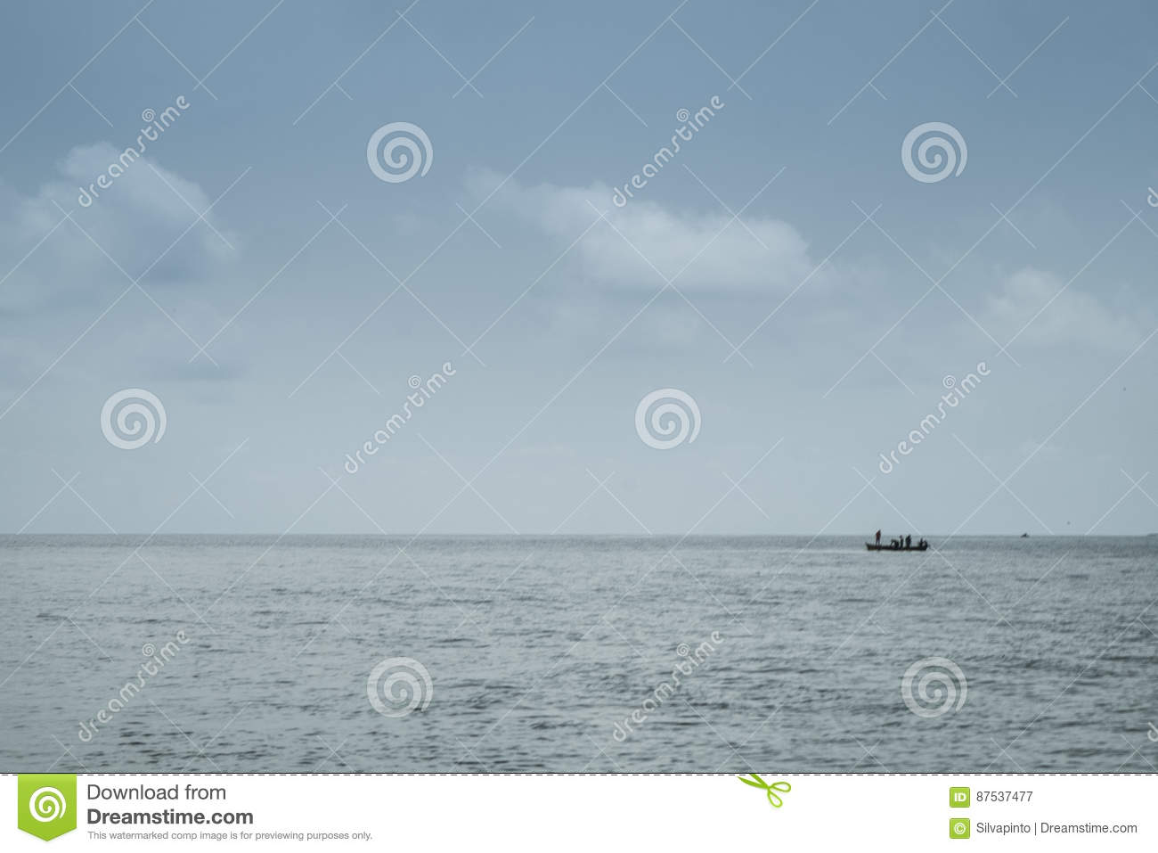 African Fishing Boat On The Tropical Island Of Sao Tome