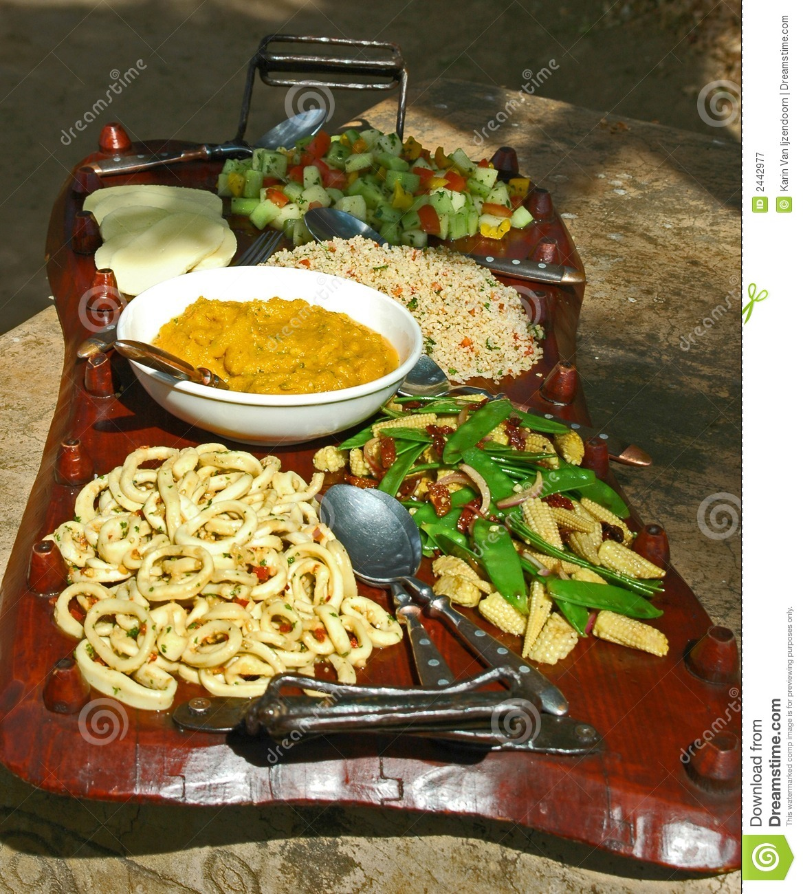 African Food Plate Stock Image Image Of Vitamin Africa