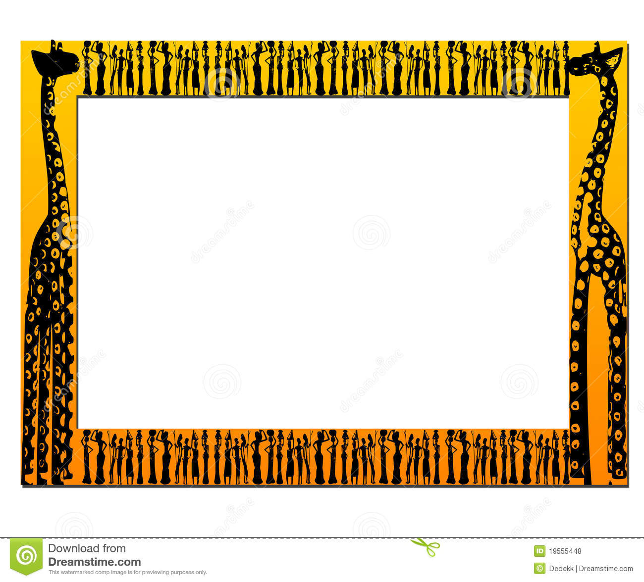 African Frame Royalty Free Stock Photos - Image: 19555448