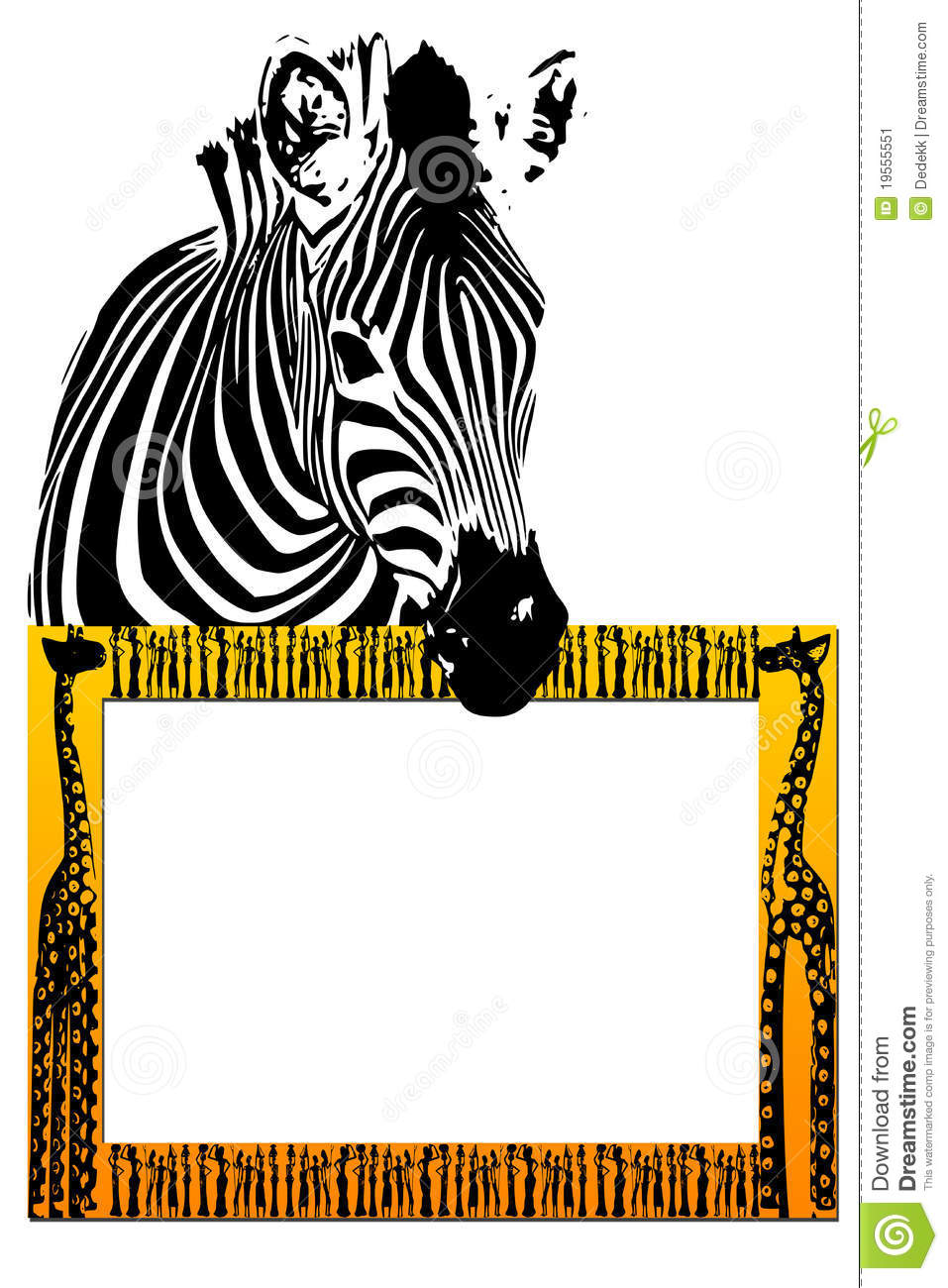 African Frame Stock Image Image 19555551