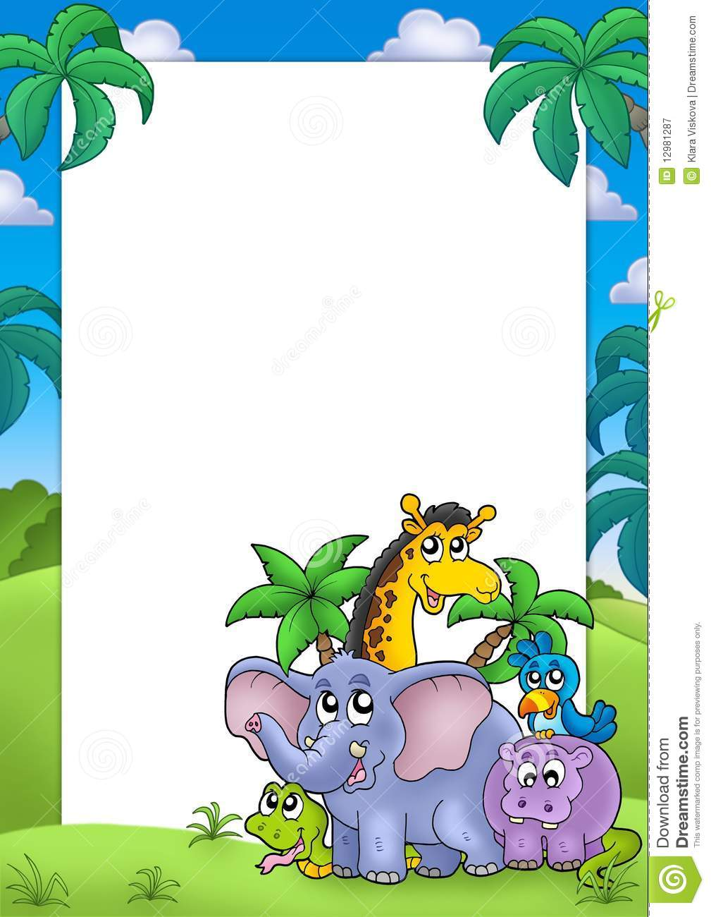 african frame with group of animals royalty free stock free elephant clipart for a boy baby shower free elephant clipart for a boy baby shower