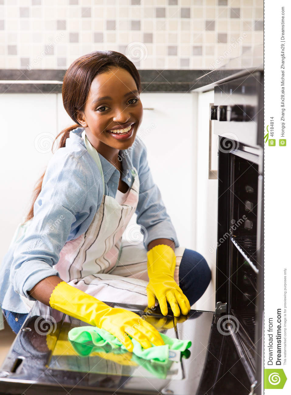 African Girl Cleaning Stock Photo Image 46184814