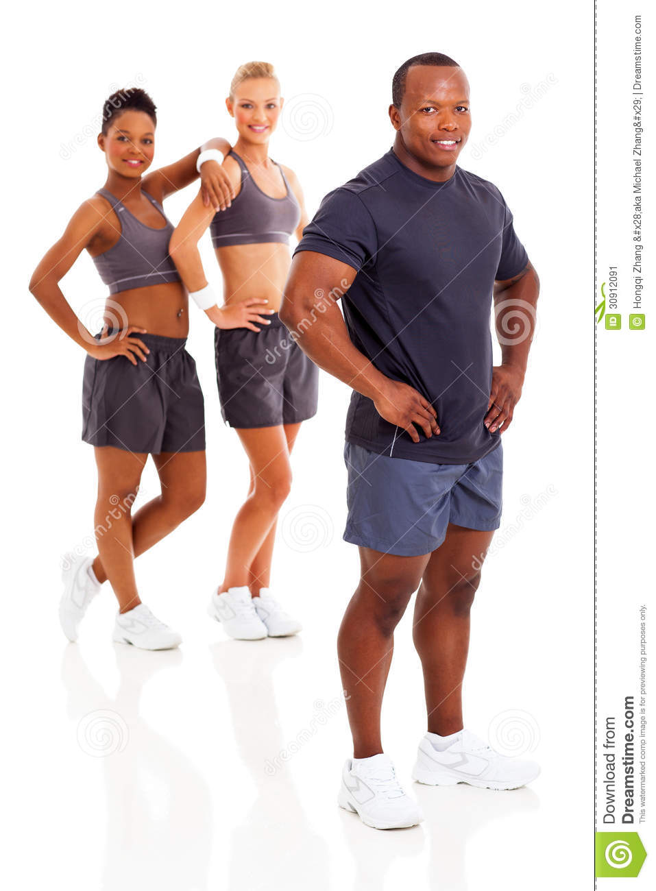 African Gym Instructor Stock Image - Image: 30912091