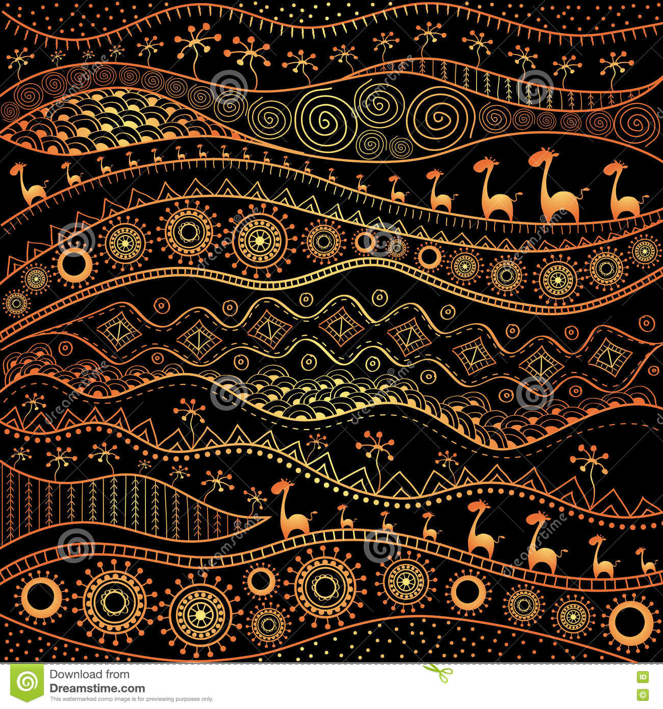 african hand drawn ethno pattern tribal background it can be used for wallpaper web page and. Black Bedroom Furniture Sets. Home Design Ideas