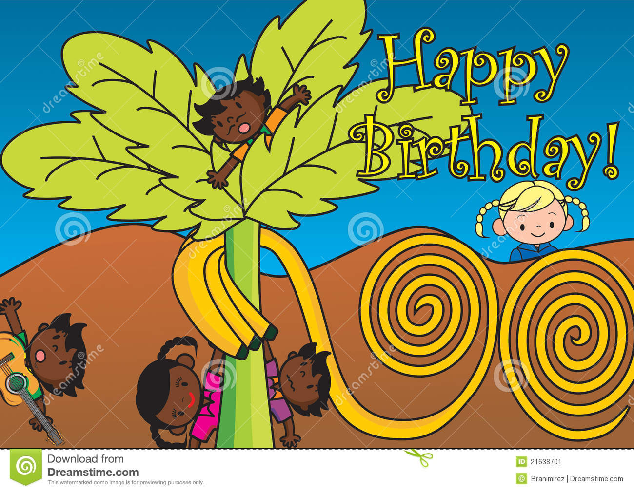 African Happy Birthday Card Stock Image Image 21638701