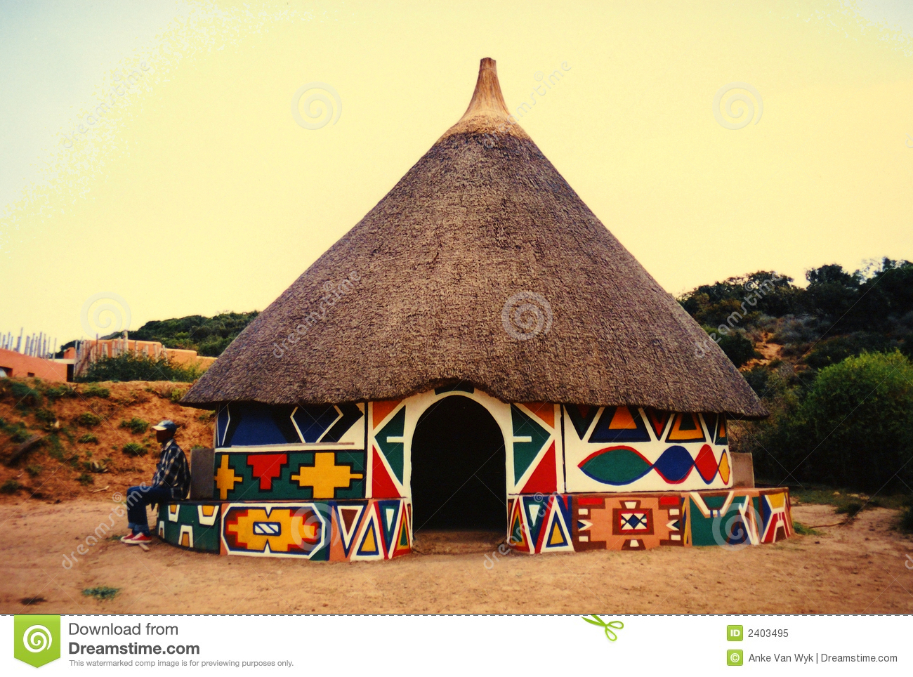 African Hut In Village Royalty Free Stock Photo - Image