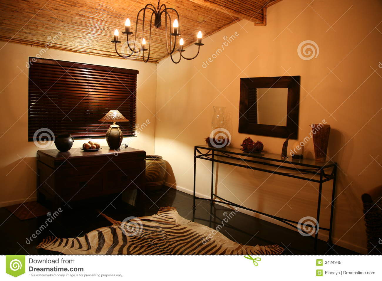 African Interior Design Royalty Free Stock Photo