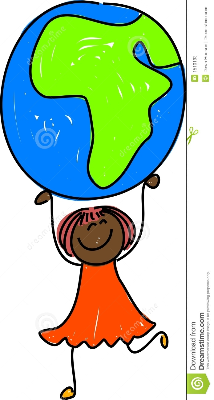 Kid Map Of Africa.African Kid Stock Illustration Illustration Of Continents 1510193