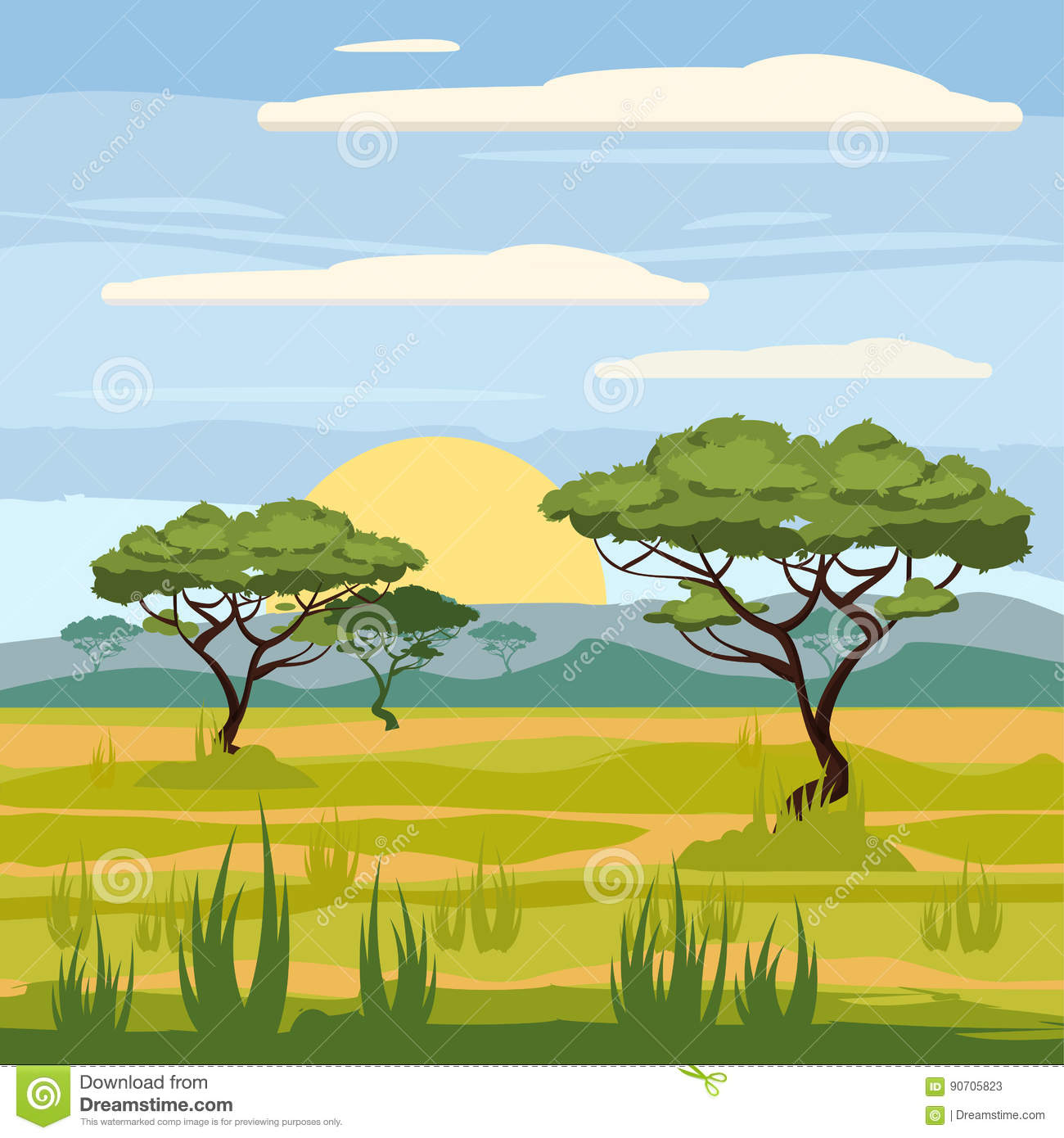 African Landscape, Savannah, Nature, Trees, Wilderness