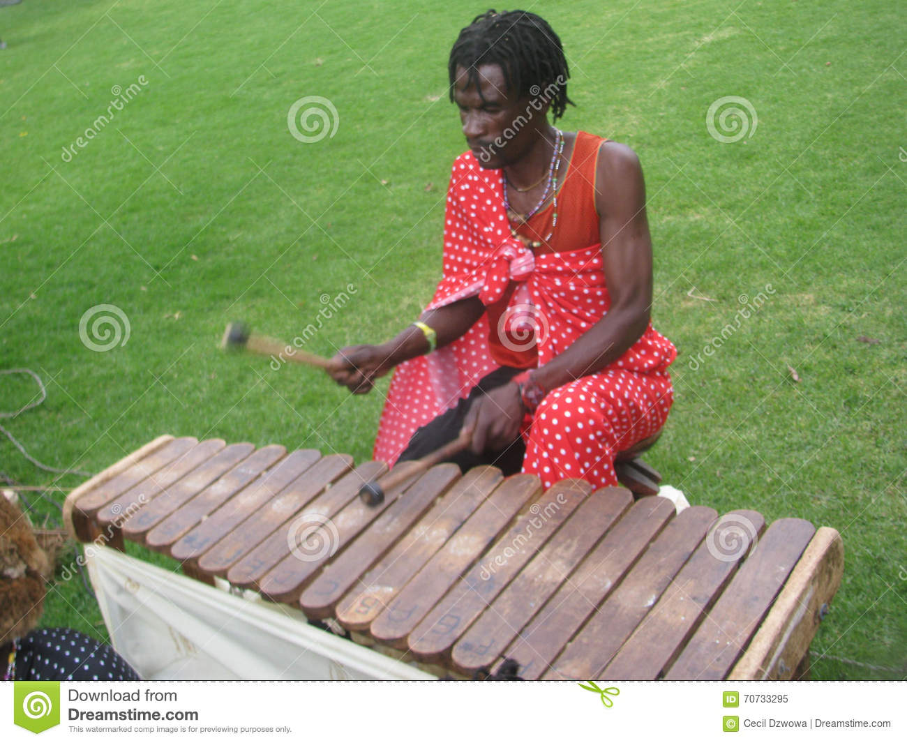 African Man Playing Traditional Xylophone Editorial Image Image Of