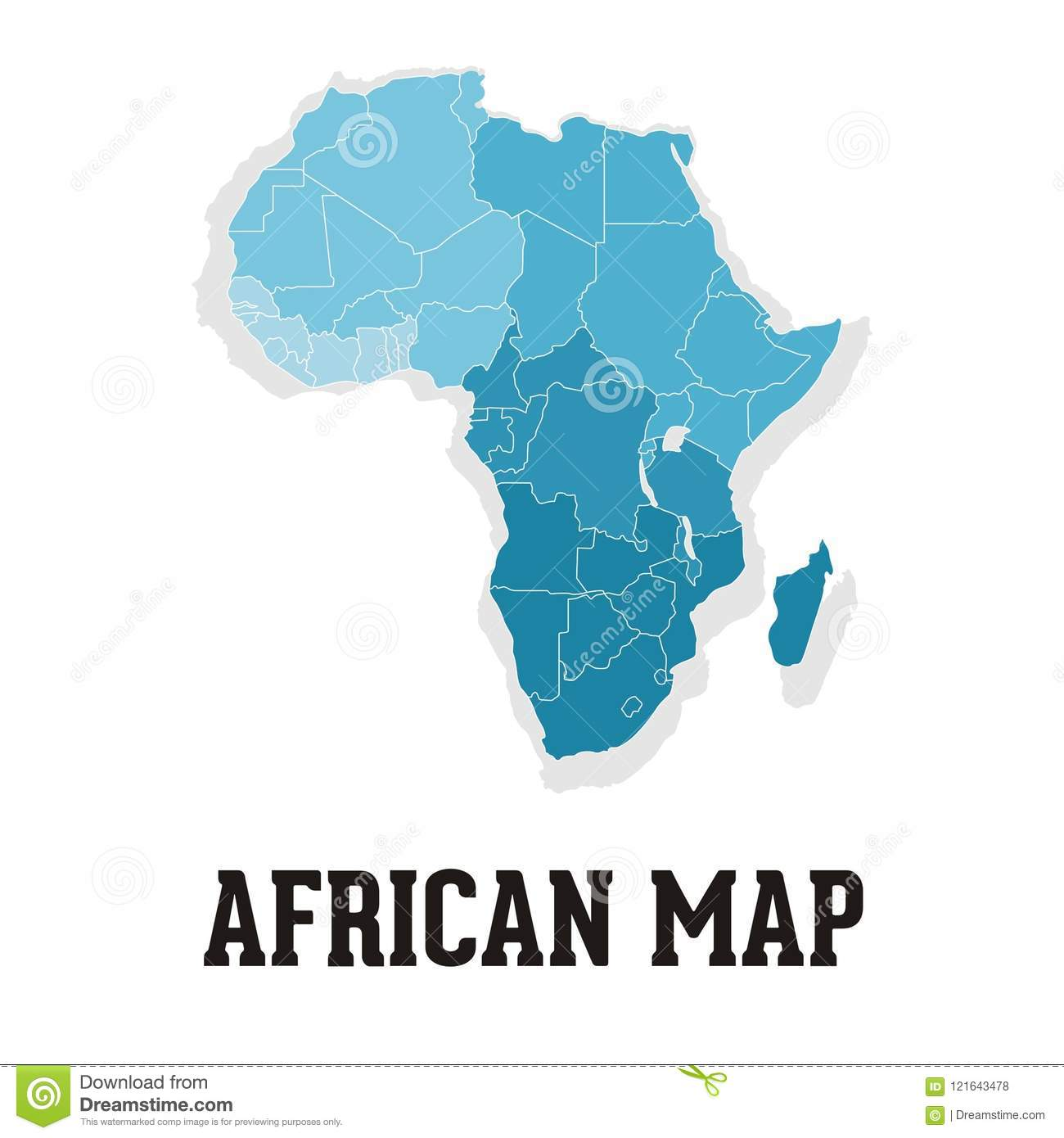 african map logo stock vector illustration of isolated 121643478